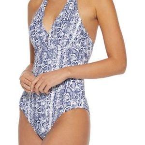 Heidi Klein Kenia one-piece halter-neck swimsuit L